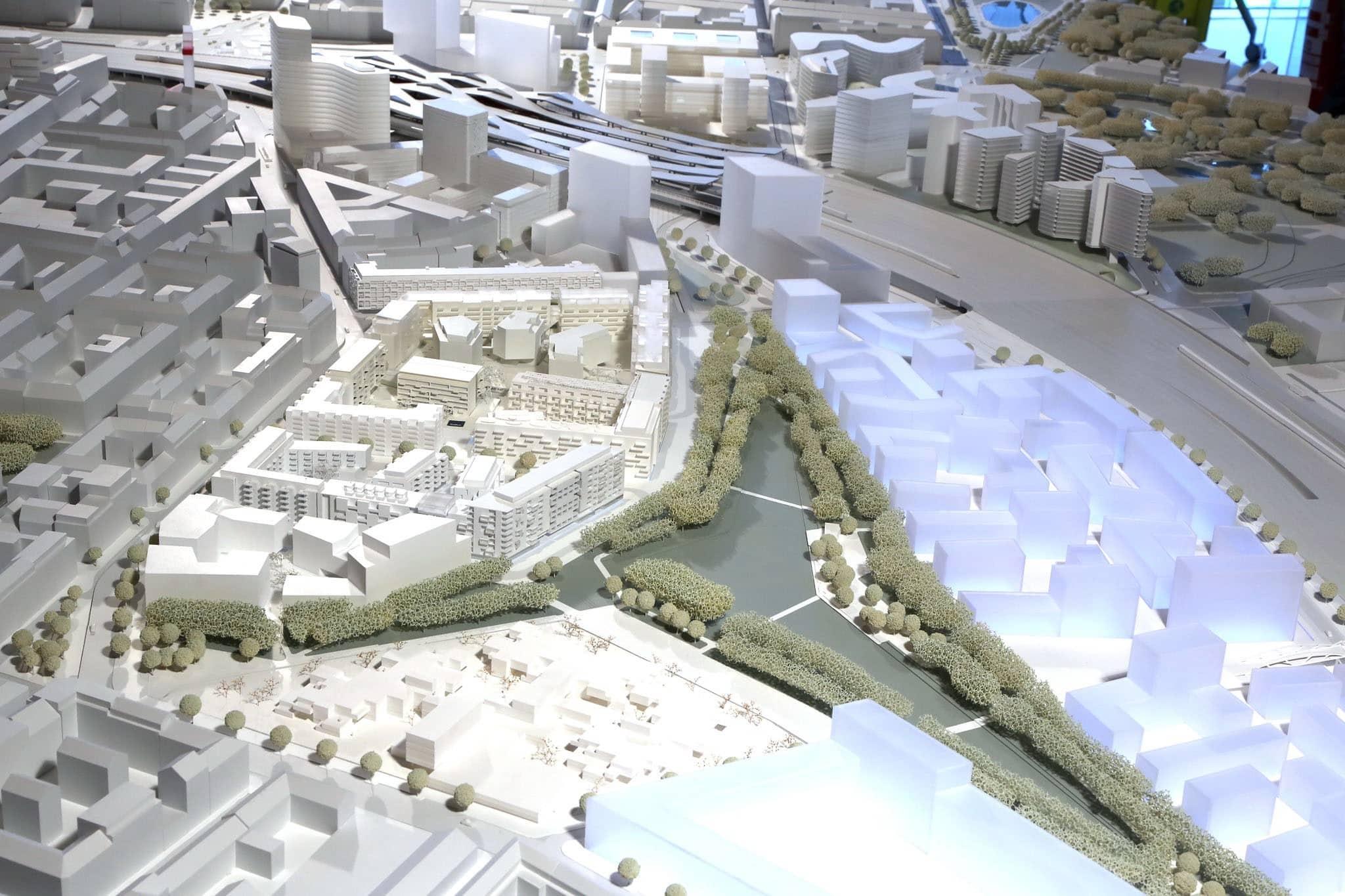 Modell des Hauptbahnhofes.
